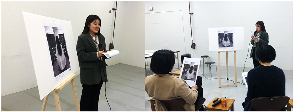 渡部千春さんによる作品のプレゼンテーションと講評会
